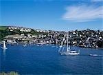 Fowey Harbour,sailboats,Cornwall,England