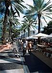 Chienne marche homme de Lincoln Road, South beach, Miami, Floride, Miami, USA