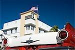 Old American car on Ocean Drive,South Beach,Miami,USA