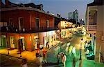 NIGHT TIME ON BOURBON STREET New Orleans  Louisiana