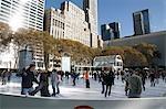 Ice Ring in Bryant Park,New York City,New York,USA