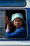 Femme sur le train, Sa Pa, Vietnam