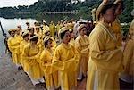 Je regarde un festival au Temple Ngoc Son, lac Hoan Kiem, Hanoi, Vietnam