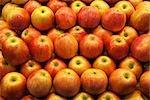 Apples in Open Air Market, Barcelona, Spain