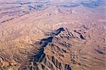 Vue aérienne du désert en dehors de Las Vegas, Nevada, USA