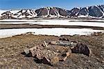 Inuit Grave Site, Craig Harbour, Ellesmere Island, Nunavut, Canada