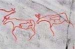 Prähistorische Felszeichnungen, Alta, Norwegen