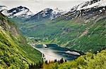 Kreuzfahrtschiffe, Geirangerfjorden, Norwegen