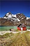 Fishing Hut and Scenic View, Raftsund, Lofoten, Norway