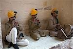 Musiciens, le Fort de Mehrangarh, Jodhpur, Rajasthan, Inde