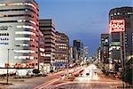 Street Scene in Downtown Nagoya, Aichi Prefecture, Chubu, Japan
