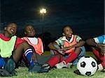 Boys at football training