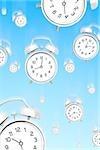Falling alarm clocks