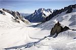 Montagnes et glaciers à proximité du mont blanc