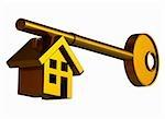 House shape on a key
