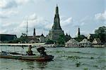 Wat Arun (Temple de l'aube) de la rivière Chao Phraya, Bangkok