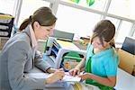Lehrer geben Zuordnung zu Schüler