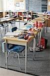 Intérieur de la classe de troisième année