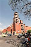 Tour de l'église de couvent de San Francisco, Santiago de Queretaro (Queretaro), patrimoine mondial de l'UNESCO, état de Querétaro, au Mexique, en Amérique du Nord