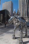 Statue de Moose, près de Tribune Building, Chicago, Illinois, États-Unis d'Amérique, l'Amérique du Nord
