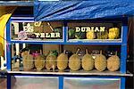 Stall selling durian fruit, Jogjakarta, Java, Indonesia, Southeast Asia, Asia