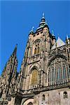 St. Vitus Cathedral, Prague Castle, Prague, Czech Republic, Europe