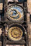 Astronomical clock, Old Town Square, Prague, Czech Republic, Europe