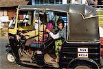Tuk-tuk transport at Fort Cochin, Kerala state, India, Asia