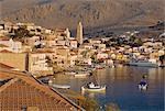Emborio, Khalki (Chalki), près de Rhodes, îles du Dodécanèse, Grèce, Europe