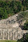 The group of a thousand columns Chichen Itza, UNESCO World Heritage Site, Yucatan, Mexico, North America