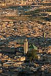 La médina ou vieille ville fortifiée d'une colline, Fès, UNESCO World Heritage Site, Maroc, Afrique du Nord, Africa