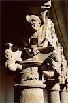Détail du Convento de las Duenas, couvent chrétien avec beaux cloîtres, Salamanque, Castille-Leon (Castille), Espagne, Europe