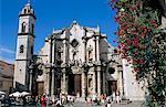 Cathédrale de San Cristobal, Vieille Havane, la Havane, Cuba, Antilles, Amérique centrale