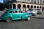 Vieilles voitures américaines, la Havane, Cuba, Antilles, Amérique centrale