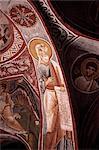 Interior of church in Open Air Museum, Goreme, Cappadocia, Anatolia, Turkey, Asia Minor, Asia