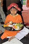 Ceremony at Hindu Temple, Maheshwar, Madhya Pradesh state, India, Asia