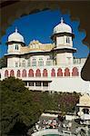 État de Shiv Niwas Palace, une maison d'hôtes royal ancien et maintenant un heritage hotel, Udaipur, Rajasthan, Inde, Asie