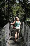 Hanging Bridges, a walk through the rainforest, Arenal, Costa Rica, Central America