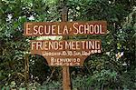 Quakers (amis) Amérique centrale maison, Monteverde, Costa Rica, de la réunion