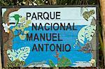 Le Parc National de Manuel Antonio signe, Costa Rica, l'Amérique centrale