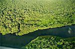 Rivière dans le Parc National de Tortuguero, Costa Rica, l'Amérique centrale