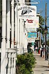 Galeries sur Duval Street, Key West, Floride, États-Unis d'Amérique, l'Amérique du Nord