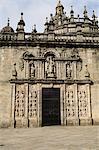 Porte Puerta Santa, cathédrale de Santiago, patrimoine mondial de l'UNESCO, Saint Jacques de Compostelle, Galice, Espagne, Europe