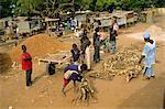 Village market near Banjul, Gambia, West Africa, Africa