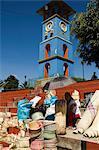 Tour de l'horloge, Zaachila, Oaxaca, au Mexique, en Amérique du Nord