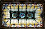 Tiffany de plafond au Gran Hotel, Zocalo, Mexico, Mexique, Amérique du Nord