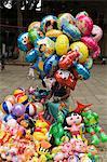 Balloon seller, Oaxaca City, Oaxaca, Mexico, North America