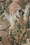 Vue aérienne, Cappadoce, Anatolie, Turquie, Asie mineure, Eurasie