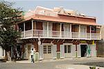Colonial style building, Santa Maria, Sal (Salt), Cape Verde Islands, Africa