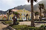 Magnifiquement restauré municipal bâtiment colonial, Ponto faire Sol, Ribiera Grande, Santo Antao, îles du Cap-vert, Afrique